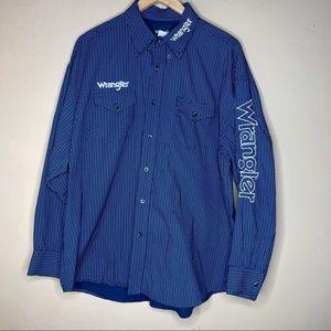 Wrangler Mens Logo Two Pocket Long Sleeve